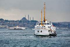 Passenger ships in the Gulf of the Golden Horn Stock Images