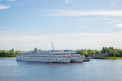 Passenger ships are at Kizhi Island, Karelia in Russia Stock Photography