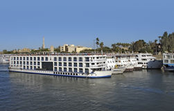 Passenger ships on River Nile Royalty Free Stock Photography