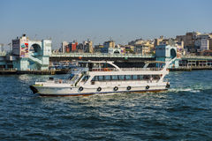 Passenger ships in the Strait of Bosporus Istanbul Turkey a clear day Stock Photos
