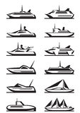 Passenger ships and yachts Royalty Free Stock Images