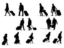 Passenger silhouettes Royalty Free Stock Images
