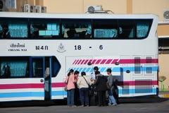 Passenger of Sombattour bus  company. Stock Photos