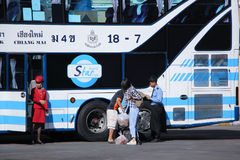 Passenger of Sombattour bus  company. Stock Photography