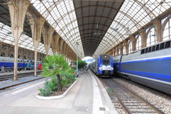 Passenger speed trains. Stock Images