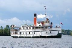 Passenger steam ship. Restored white passenger steam ship royalty free stock photography