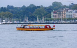 Passenger steamer on lake Geneva Stock Image