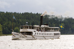 Coal-fired passenger steamer S/S Mariefred Royalty Free Stock Photography