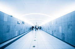 Passenger in the subway station Royalty Free Stock Images