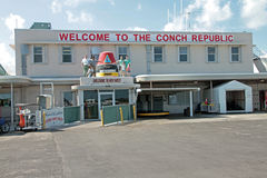 The Passenger Terminal at the Key West Airport. The Conch Republic (República de la Concha) is a micronation declared as a tongue-in-cheek secession of the city Stock Images