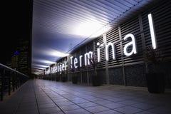 Passenger terminal sign Stock Images