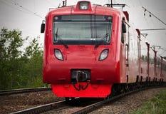 Passenger train. Electric passenger train at suburban railway Stock Photos