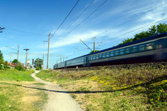 Passenger train Stock Image
