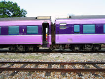Passenger train. Old car from japan , repain and modify by state railway of thailand Stock Photo