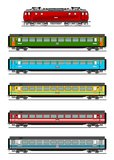 Passenger train. A illustration of passenger train Royalty Free Stock Photo