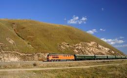 Passenger train stock images