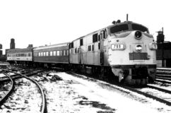 Passenger Train. An old picture of a passenger train Royalty Free Stock Photos