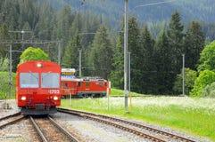 Passenger train from Arosa to Chur. Stock Images