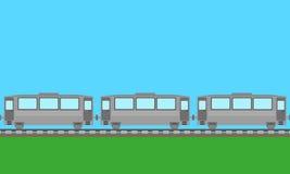 Passenger train background  Royalty Free Stock Photo