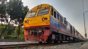 Passenger Train in Bangkok, Thailand Stock Photo