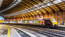 Passenger train at Bristol Temple Meads Station, England Royalty Free Stock Image