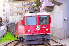Passenger train from Chur. Stock Photography