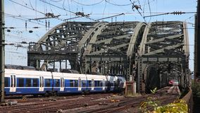 Passenger Train in Cologne, Germany stock video