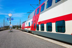 Passenger train departure Stock Image