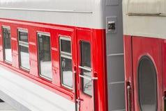 Passenger train detail. A detail of a russian made passenger train Royalty Free Stock Photos
