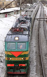 The passenger train is going. From Moscow Royalty Free Stock Image