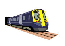 Passenger Train. An illustration of an urban passenger train Stock Photography
