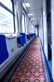 Passenger train interior Stock Images