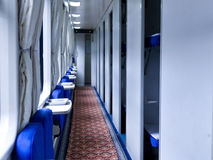 Passenger train interior Royalty Free Stock Images