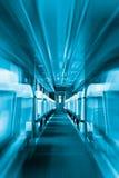 Passenger train interior with empty eats Royalty Free Stock Photo