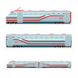 Passenger Train. Isolated on white passenger train model. Transportation design royalty free illustration