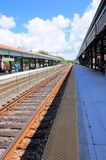 Passenger train leaving station, Florida Royalty Free Stock Image