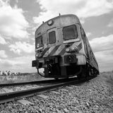 Passenger train in motion, Monochromatic Royalty Free Stock Photo