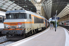 Passenger train Nice-Moscow is ready to depart Stock Photography