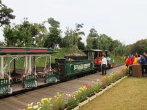 Passenger train in the park Royalty Free Stock Photo