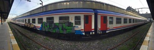 Passenger train parked on Istanbul haydarpasa station Royalty Free Stock Image