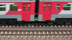 Passenger train passing stock footage