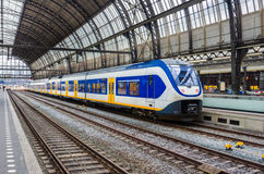 Passenger Train at Platform Royalty Free Stock Photos