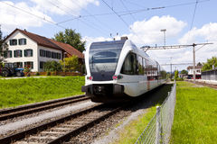 Passenger Train in a rural station Royalty Free Stock Photo
