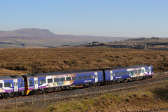 Passenger train on Settle to Carlisle railway line Stock Photography