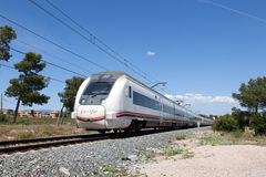 Passenger train in Spain stock photography