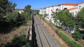 Passenger train in Spain stock video