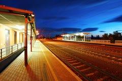 Passenger train station Stock Photos