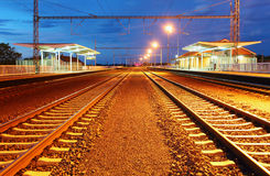 Passenger train station stock photography