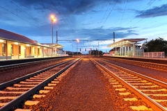 Passenger train station Royalty Free Stock Photos