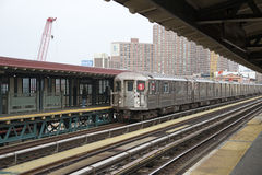 Passenger train at 125th Street station New York Stock Photography